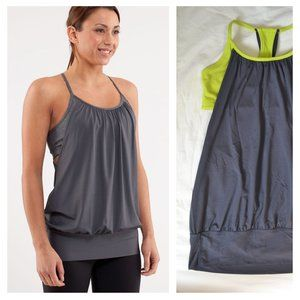 LULULEMON | No Limits Tank Top Grey Green | Sz. 6